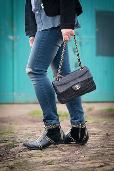 blog vintage chanel classic flap matching purs