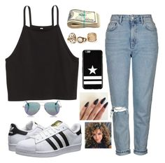"""shopping"" by tryn11 ❤ liked on Polyvore featuring Topshop, adidas Originals, Cutler and Gross and Givenchy"