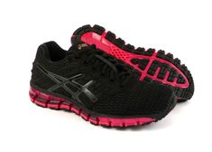 Asics Gel-Quantum 180 2 women s running shoes sneakers trainers Black Pink   ASICS   3da853b5a