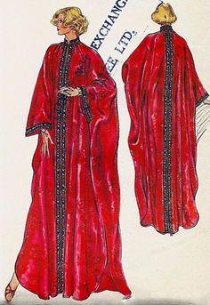 Vintage Sewing Pattern Vogue Very Easy Caftan Kaftan Size Medium Bust Kimono Fashion, 70s Fashion, Vintage Fashion, Vogue Sewing Patterns, Vintage Sewing Patterns, Casual Work Outfits, Modest Outfits, Kaftan Pattern, Caftan Dress