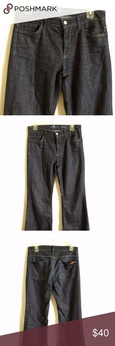 7 for all mankind Women's ginger wide leg flare 28 7 for all mankind Women's ginger wide leg flare trouser style jeans size 28 7 For All Mankind Jeans Flare & Wide Leg