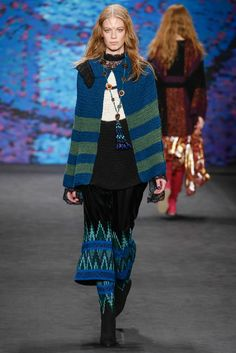 Crochet poncho/cape/top -- didn't I tell you to get used to this trend like a month ago already? (Anna Sui F15 RTW)