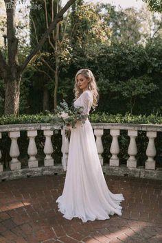 Long Sleeve Lace Wedding Dress by Solo Merav from Diamond Bridal Gallery #laceweddingdresses #ChristianWeddingIdeas