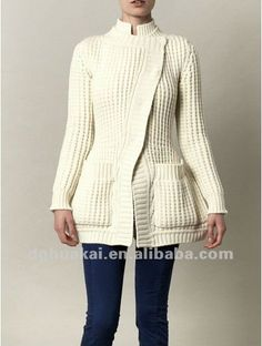 2014 Winter Fashion Knitwear Long Sleeve White Women Cashmere Cardigan