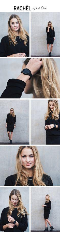 All black minimalist outfit of Rachel | Photography by José Chan via: http://www.byjosechan.com/rachel/
