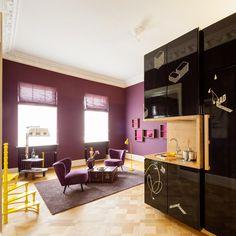 LILA02 - living room - yellow - purple