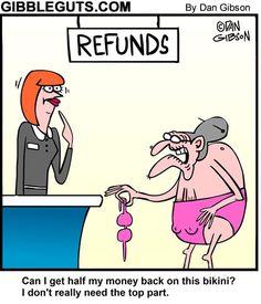 Funny bikini cartoon