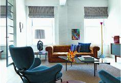 A New York, un loft moderno che gioca con il colore