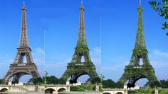 Tour Eiffel : et si le squelette métallique s' habillait d'un manteau végétal. Recouvrir le squelette métallique de la « dame de fer » d'une peau faite de plus de 600 000 plantes et y implanter un réseau tubulaire de  12 km : c'est le défi de la société d'ingénierie Ginger.  Après deux ans de réflexion, elle livre un procédé breveté qui pourrait être déployé sur des bâtiments, aux quatre coins du monde. Le projet verra-t-il le jour ? Le Moniteur. Clic 2X.