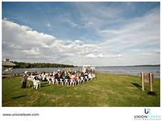 "Great photograph of a beachfront wedding at  Calabogie Peaks by ""Union Eleven"""