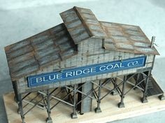Blue Ridge coal tipple. Photo and modeling by Greg Shinnie