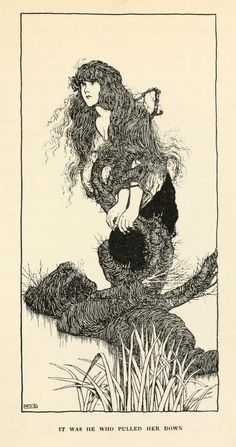 venusmilk:    Hans Andersen's fairy tales (1913)Illustrations by William Heath RobinsonIt was he who pulled her down    gpoy