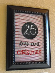 a little of this, a little of that: Christmas Countdown {Frame} Tutorial