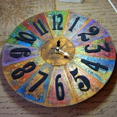 Eileen's Crafty Zone: Andy Skinner Retro Clock  - Kroma Crackle and Inka...