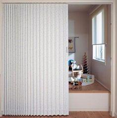 アコーディオンカーテンによる部屋の間仕切り http://www.ienakama.com/tips/page/?tid=824