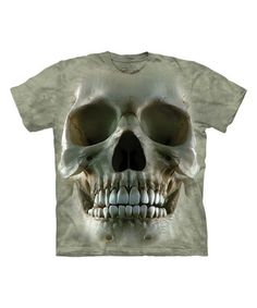 Look what I found on #zulily! Gray Big Face Skull Tee #zulilyfinds