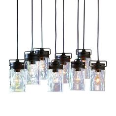 allen + roth Vallymede 7.7-in Olde Bronze Multi-Pendant Light with Clear Glass Shade | Lowe's Canada