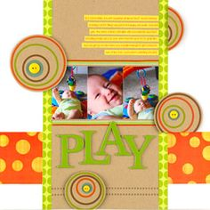 Showcase a Baby's Personality in a Narrow Scrapbook Page Design