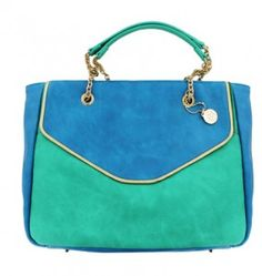 This bold colors of this purse are on trend with spring's energetic vibe.