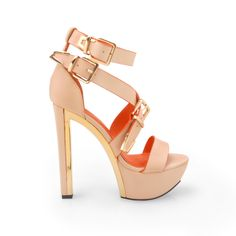 - Material: Leatherette - Heel Height: 6 in - Platform Height: 1.5 in - Fit: True to size