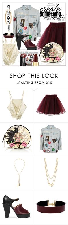 """""""Get dressed and leave..!!!Today saturday...!!!"""" by nihal-imsk-cam ❤ liked on Polyvore featuring Chicwish, Olympia Le-Tan, Topshop, Bølo, Gorjana, Marni, Vanessa Mooney and Shaun Leane"""