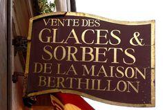 Paris..Berthillon sorbets and glaces