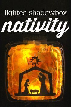 Lighted Shadowbox Nativity:  A simple and sweet craft for Christmas!