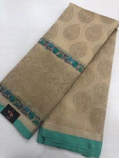 Embroidered fancy saree comes with running blouse
