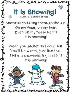 Winter Literacy and Math Activities and Centers for Kindergarten Snowflakes! Kindergarten Literacy and Math Activities. Winter Literacy and Math Activities and Centers for Kindergarten Snowflakes! Kindergarten Literacy and Math Activities. Songs For Toddlers, Kids Songs, Winter Activities For Toddlers, Rhymes Songs, Kindergarten Poems, Kindergarten Literacy Activities, Kindergarten Word Work, Preschool Music, Winter Preschool Songs