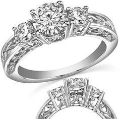 engagement ring - 3 stone ($990.00)