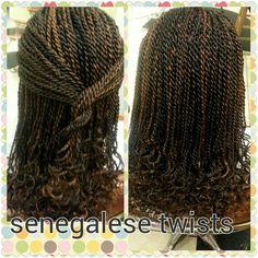Senegalese/rope twists
