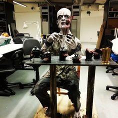 Good evening.  #sculpture #ceramics #konstfack #creepy #monster #craft #ghost #horror #teeth #sculpey #sculpture