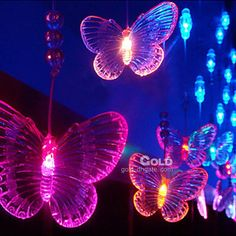 Wholesale - 2Mx0.65M Seven Colors Butterfly LED String Lamp with 288 LEDs- Christmas & Halloween Decoration,$23.19~26.08/Piece,1 piece/Lot | DHgate.com