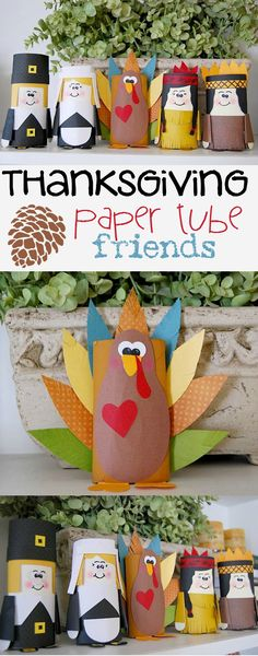 www.creativemeinspiredyou.com These fun characters are a great way to occupy the kids while Thanksgiving dinner is in the oven. Just a little paper and glue, and they can create their own toys to play with. Thanksgiving, recycle, pilgrims, indians, turkey, kids play, kids crafts, crafts, toilet paper rolls, paper tubes, crafting, holiday, easy, fun Kids Thanksgiving, Thanksgiving Arts And Crafts, Thanksgiving Activities, Fall Crafts For Kids, Thanksgiving Decorations, Holiday Crafts, Holiday Decor, Preschool Crafts, Fun Crafts