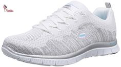 Flex Appeal 2.0, Baskets Basses Femme, Blanc (WSL), 36 EUSkechers