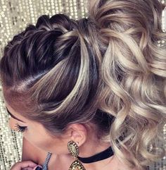 Wedding hairstyle - Home Quick Braids, Braids For Long Hair, Hc Hair, Ponytail Hairstyles, Updos, Pinterest Hair, Hair Game, Homecoming Hairstyles, Stylish Hair