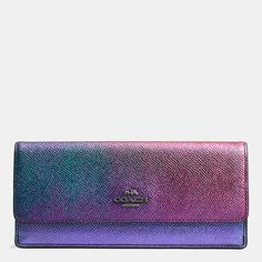 Coach | SOFT WALLET IN HOLOGRAM LEATHER