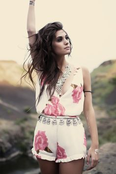 Bohemian Gypsy Style Romper Winston White Outfit Ideas Silver Coin Necklace Trending
