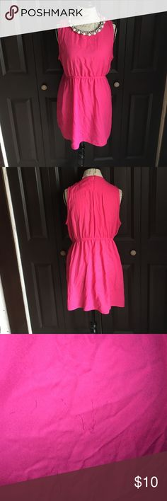 Hot pink Maternity dress !! Hot pink , worn once !! Does have minor imperfection shown above sassy Dresses