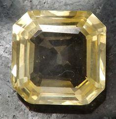 5.16 ct Unheated Beautiful Natural Yellow Sapphire Ceylon Nice Octagon Cut #Unbranded