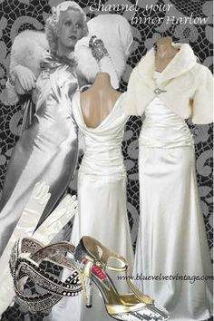 Harlow Style Dresses-Jean Harlow-1930s Fashions   Vintage Style Files