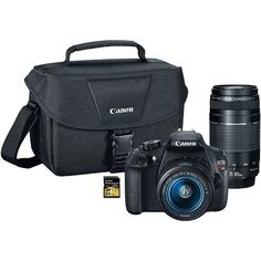 Canon - Digital SLR 18.0 MP Camera Kit With 64GB Professional Class 10 SDHC UHS-I/U1 Card