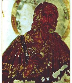One of the earliest images of Jesus, from the 4th Century, found in a cemetery in an imperial villa that belonged to Constantine.