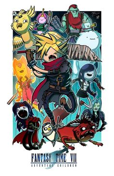 Mike and I are at it again! Here's our latest mash-up, Adventure Time meets Final Fantasy VII! We call it Fantasy Time VII: Adventure Children. Fantasy Time VII - Collab w/ Mike Vasquez Adventure Time Anime, Adventure Time Crossover, Adventure Time Characters, Final Fantasy Vii, Fantasy Art, Fanart, Geeks, Adventure Time Personajes, Arte Haida