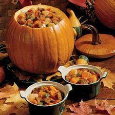 pumpkin stew in a pumpkin