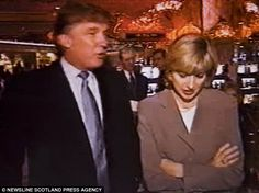 Selina Scott (pictured right)  met American billionaire Donald Trump (left) while filming a documentary on him for ITV in 1995. After the film aired she claims she received numerous spiteful letters from Trump