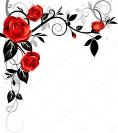 Scarica - Sfondo di Rose — Illustrazione stock #8418157