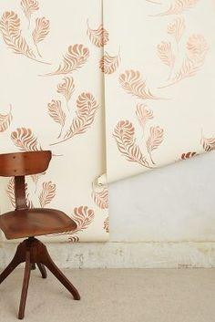 Copper Plumes Wallpaper