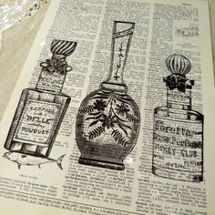 Illustrations--two of my favorites: words and perfume!