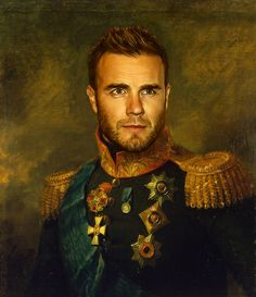 Gary Barlow - replaceface Art Print Now that I like, how fun is this!